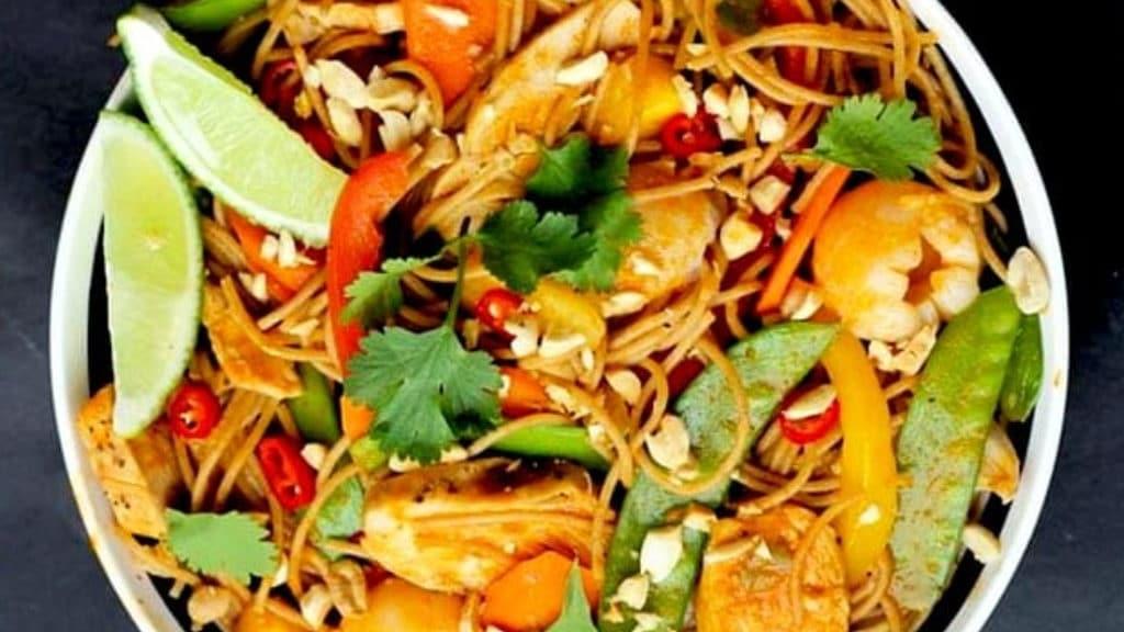 Litchi Chicken Curry Noodles