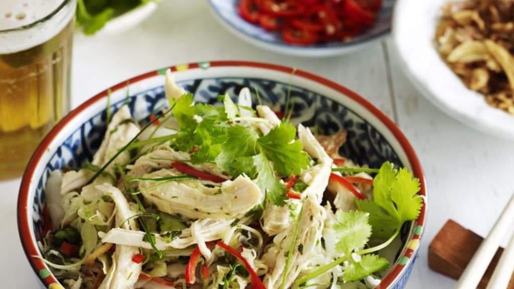 Poached Chicken, Litchi and Lemongrass Salad
